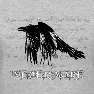 Gray The Raven - dark bg text Women's T-Shirts - Women's V-Neck T-Shirt