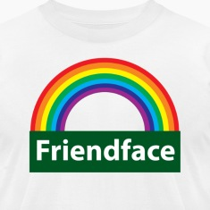 White friend face T-Shirts