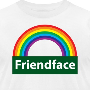 White friend face T-Shirts - Men's T-Shirt by American Apparel
