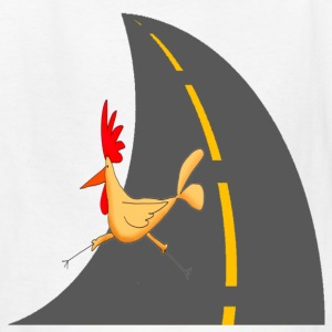 White Chicken Crossing Road Kids' Shirts - Kids' T-Shirt