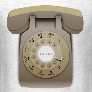 Rotary Phone - Beige - Men's T-Shirt