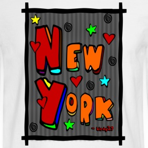 White Funky New York, Art In Frame--DIGITAL DIRECT PRINT Long Sleeve Shirts - Men's Long Sleeve T-Shirt