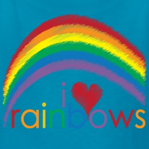 Classic pink i_love_rainbows Kids' Shirts - Kids' T-Shirt