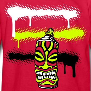 Red SPRAY STRIPES TIKI (C3P US) Kids' Shirts - Kids' Long Sleeve T-Shirt