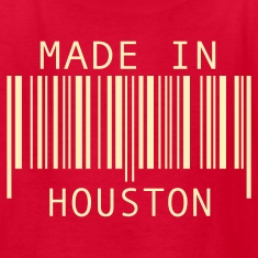 Red Made in Houston Kids' Shirts