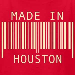 Red Made in Houston Kids' Shirts - Kids' T-Shirt
