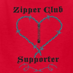 Red zipperclubsupporter Kids' Shirts - Kids' T-Shirt