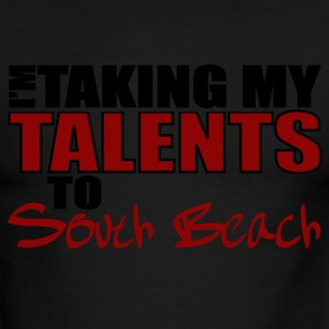 White/red Taking My Talents to South Beach T-Shirts - Men's Ringer T-Shirt