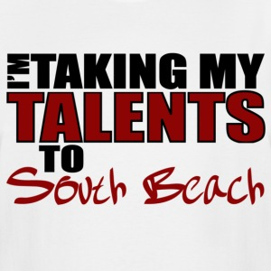 White Taking My Talents to South Beach T-Shirts - Men's Tall T-Shirt