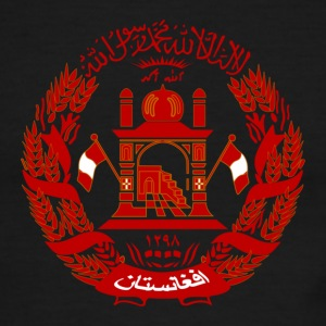 White/red Afganistan Coat of Arms T-Shirts - Men's Ringer T-Shirt