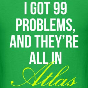 99 Problems in Atlas tee in Eggplant (mens) - Men's T-Shirt