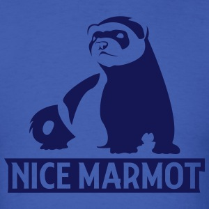 Royal blue Nice Marmot T-Shirts - Men's T-Shirt