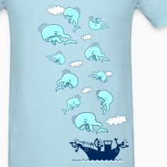 Sky blue Where have the Whales Gone? T-Shirts