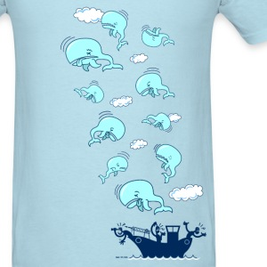Sky blue Where have the Whales Gone? T-Shirts - Men's T-Shirt