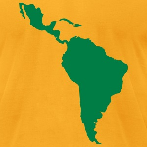 Gold South America T-Shirts - Men's T-Shirt by American Apparel