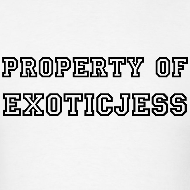PROPERTY OF: Black Text