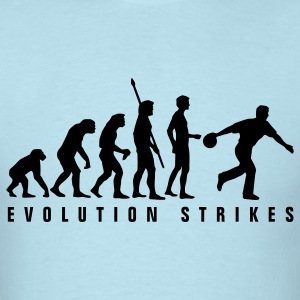Sky blue evolution_bowler_b_1c T-Shirts - Men's T-Shirt
