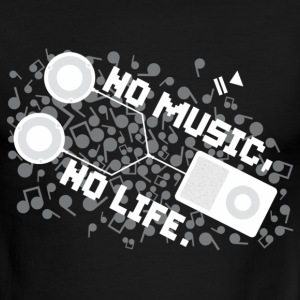NO MUSIC, NO LIFE. - Men's Ringer T-Shirt