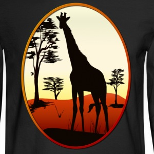 Giraffe Oval - Men's Long Sleeve T-Shirt
