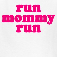 White run mommy run Kids' Shirts