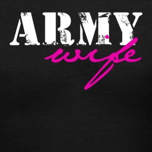 Black army wife Women's T-Shirts - Women's V-Neck T-Shirt