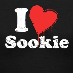 Black i heart sookie Women's T-Shirts - Women's V-Neck T-Shirt