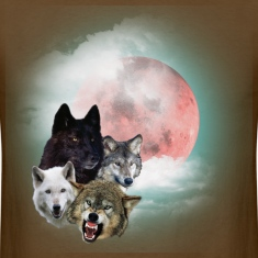 Brown wolfs_moon_t T-Shirts