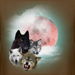 Brown wolfs_moon_t T-Shirts - Men's T-Shirt