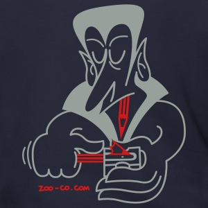 Navy Dracula Sharpening his Teeth Zip Hoodies/Jackets - Men's Zip Hoodie