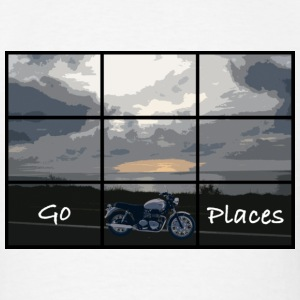 Go places.  Bonneville inspired design. - Men's T-Shirt