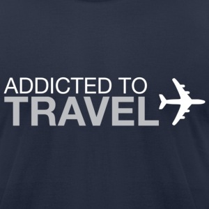 Addicted to Travel - Men's T-Shirt by American Apparel