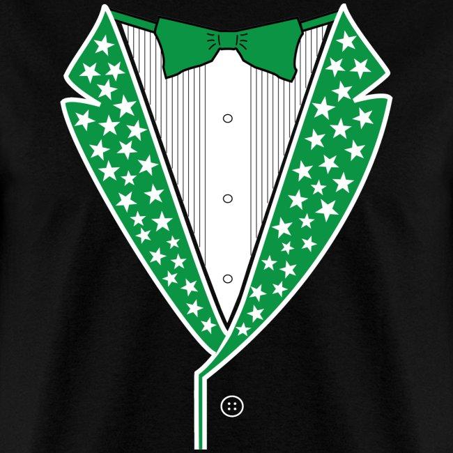 Star Tuxedo Green on Black