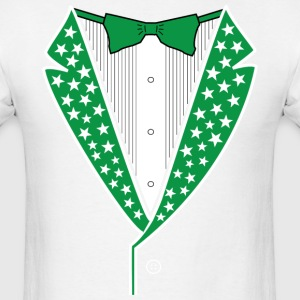 Star Tuxedo Green on White - Men's T-Shirt