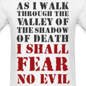 As i walk.. i shall, tier 1 (back) - Men's T-Shirt