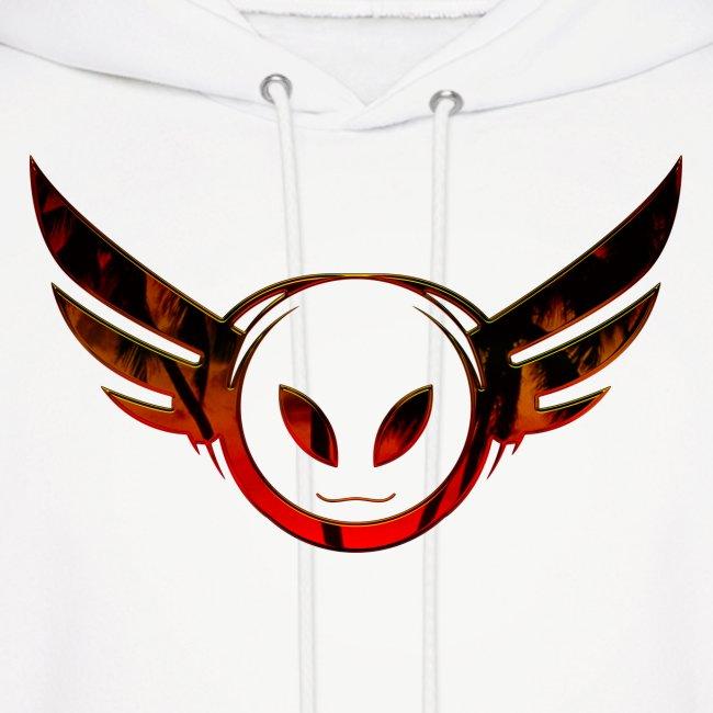 Betamorph Recordings Alien Logo Hoodie | sunset plams