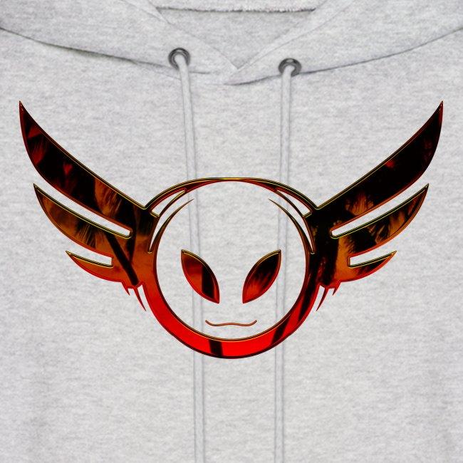 Betamorph Recordings Alien Logo Hoodie   sunset plams