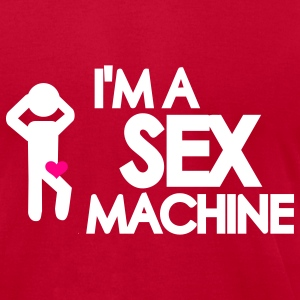 Red Sex machine T-Shirts - Men's T-Shirt by American Apparel