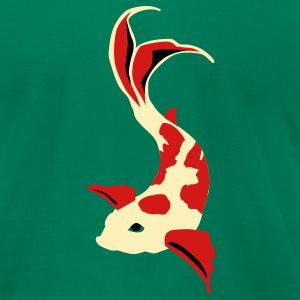 Kelly green Koi fish T-Shirts - Men's T-Shirt by American Apparel