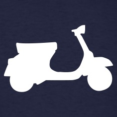 Navy motorcycle - moped T-Shirts