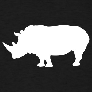 Black Rhino - Rhinoceros T-Shirts - Men's T-Shirt