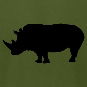 Olive Rhino - Rhinoceros T-Shirts - Men's T-Shirt by American Apparel