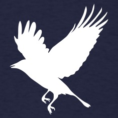Navy Crow - Blackbird T-Shirts