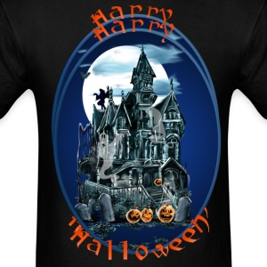 Haunted House Oval Lettered - Men's T-Shirt