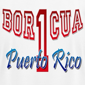 Bor1cua - Puerto Rico - Men's T-Shirt by American Apparel