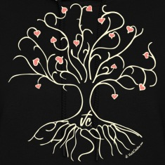 Black VC Tree of Love Hoodies