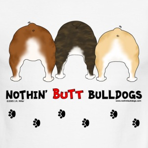 Nothin' Butt Bulldogs T-shirt - Men's Ringer T-Shirt