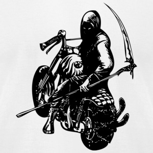 White bike_dead T-Shirts - Men's T-Shirt by American Apparel