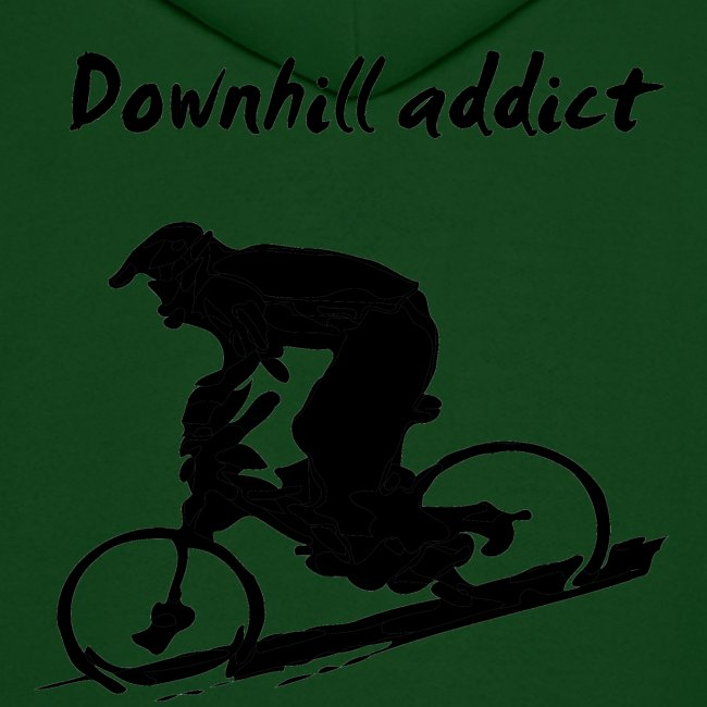 Mountain Bike Downhill Hoodie - Downhill Addict