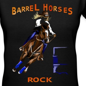 Barrel Horses Rock - Women's V-Neck T-Shirt