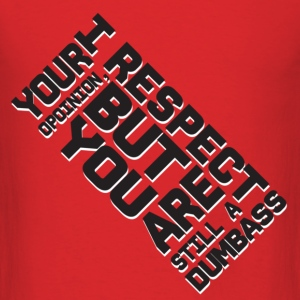 Red Respect  T-Shirts - Men's T-Shirt